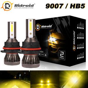 3000K Yellow MINI 9007 HB5 120W 28000LM LED Headlight Kit Hi/Lo Beam Light Bulbs