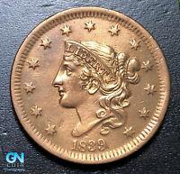 1839 Coronet Head Large Cent   --  MAKE US AN OFFER!  #B3639