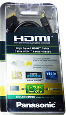 NEW Panasonic RP-CDHS30 9.8F HDMI Black High Speed Cable Full HD 1080p Interface