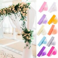 10M Organza Sheer Tulle Fabric Wedding Table Runner Chair Bows Sash Party Decor