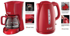 Set Kaffeemaschine und Wasserkocher Rot Russell Hobbs 22611-56 21272-70