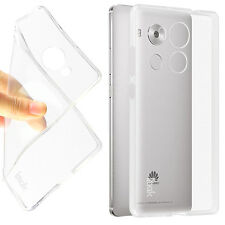 Clear Transparent TPU Jelly Rubber Gel Back Case Cover For Various Huawei phone