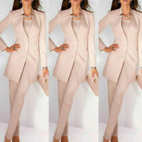 Pink Women Ladies Pant Suits Business Office Tuxedos Fashion Work Wear Suits