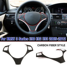 New Carbon Fiber Style Steering Wheel Cover For BMW 3 Series E90 E92 E93 05-2012