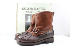 FRYE Warren Duck Engineer Boot Shearling Espresso Brown NEW $398 Retail Size 8.5