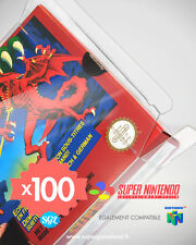 100 BOITIERS PROTECTION PROTECTIVE CASE SUPER NINTENDO SNES N64 0,4 mm NEUFS
