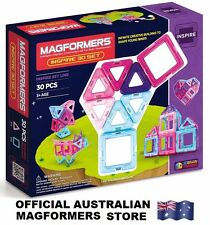 Genuine MAGFORMERS Inspire 30 Set - 3D Magnetic building construction buildings