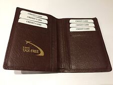 New - TRAVEL TAX FREE Cartera Wallet - Brown Leather - Piel Marrón - For 8 cards