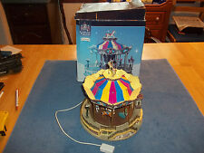 "Lemax Carole Towne ""Belmont Carousel"" Animated Carnival Ride -"