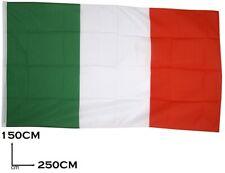 BANDIERA ITALIA CON ASOLA PER ASTA TRICOLORE ITALIANA GRANDE 150X250CM GIGANTE