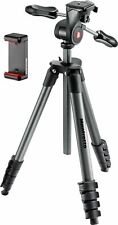 NEW Manfrotto Compact Advanced Smart 65 Tripod With 3way Head & Smartphone Clamp