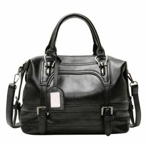 Faux Leather Fashion Style Women Hand Shoulder Bag Large Capacity Zipper Closure