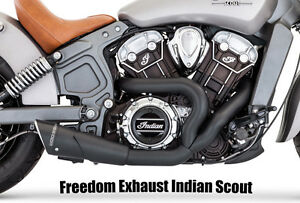 INDIAN SCOUT 60 Freedom Exhaust 2:1 Black