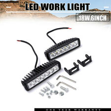 2X 18W 6Inch Led Work Light Bar Spot Off-Road Driving For 4Wd Lamp Ute Truck Atv
