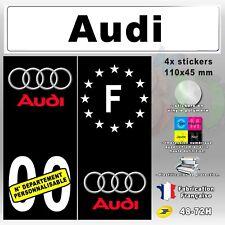 "4x Stickers Plaques D/'immatriculation Fond Bleu /""Audi S4/"" 110x45 mm"