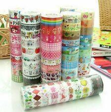 Bulk 10Pcs Meter Paper Sticky Adhesive Sticker Decorative Tapes New Washi B4V2