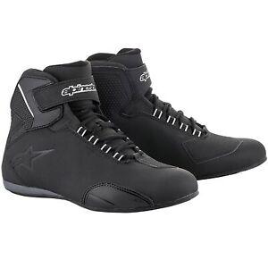Alpinestars Sektor Waterproof Motorcycle Motorbike Shoes - Black (10)