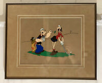 Spinach of Champions Limited Edition Sericel FRAMED Popeye Olive Oyl Golf