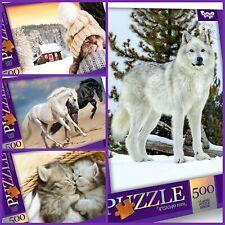 Erwachsenenpuzzle Puzzle 500 Teile  47,5 x 34 cm Pferde Wolf Katzen Skiathos
