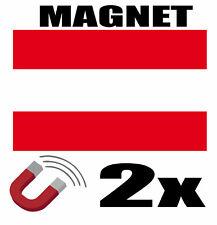 2 x AUTRICHE Drapeau Magnet 6x3 cm Aimant déco AUTRICHE magnétique frigo