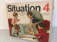 Situation 4 Action Puzzle Board Game Vintage 1968 Parker Bros. Nr COMPLETE