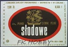 Poland Brewery Lublin Słodowe Beer Label Bieretikett Etiqueta Cerveza lu42.1