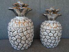 Pot ananas strass boîte café sucre bonbon décoration lot 2pcs en coffret cadeaux