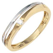 Echtschmuck aus mehrfarbigem Gold mit Zirkon-Ringe