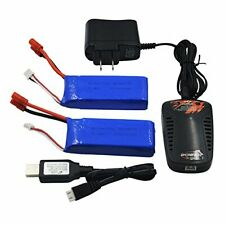 7.4V 2000mAh Battery Banana Plug and Charger for SYMA X8C X8w X8G X8HD (2 Pack)