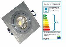 Eckige Einbaustrahler Kanto Einbauspot GU10 LED 5W COB Einbaurahmen Strahler