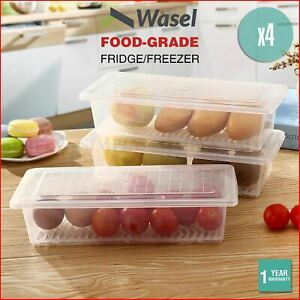 Wasel Refrigerator Storage Box Food Container Fridge Freezer Kitchen Organiser