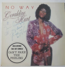 "GERALDINE HUNT ""NO WAY"" RARE FRENCH 12"" VINYL HAND SIGNED- CANT FAKE THE FEELING"