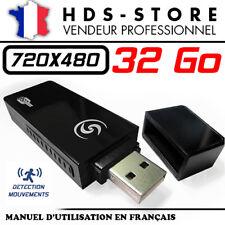 CLÉ USB CAMERA ESPION USBCAMU9 + MICRO SD 32 GO 480P DÉTECTION VIDÉO 720X480