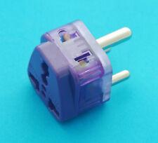 Universal USA AUS EURO UK to India Type D AC Power Plug Adapter Dual Ports