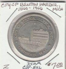 (H) Token - Benton Harbor, MI - Corporate Seal - 34 MM Copper/Nickel
