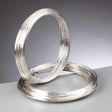1.25 mm (16 gauge) Silver Plated Craft / Jewellery / Florist Wire 3 metres 3m