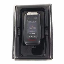 New In Box Motorola Barrage V860 Rugged Mil-Spec Black Flip Phone for Verizon