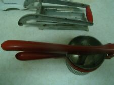 vintage 1950s french fry cutter Plus Ricer Both Red Handles Awesome Display