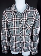 Large Vans Plaid Long Sleeve Shirt Mens L  Black Red White