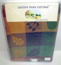 "Cotton Park Cottage Tablecloth~Leaves & Fruit Jacquard ~60""x84"" Rectangle *NEW*"