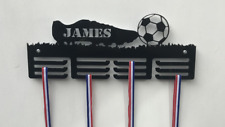 Personalised 3Tier FOOTBALL (BOOT) Medal Hanger, Holder, Strong 5mm Acrylic