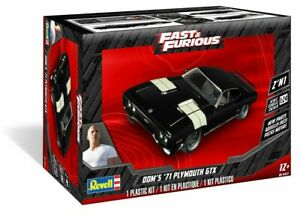 Revell Fast & Furious Dom's 1971 Plymouth GTX 1:24 Scale Model Kit