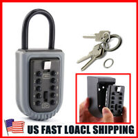 Home Security Wall Mount Outdoor Combination Key Safe Storage Box Lock Car Door