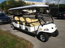 2019 white Evolution Golf Cart Carrier LIMO 8 Passenger seat 48v WARRANTY