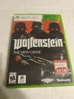 Wolfenstein: The New Order (Microsoft Xbox 360, 2014) Complete 4-Discs w/ Manual