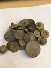30 Metal Detecting Found Old Buttons All Whole With Fixing Loops,
