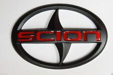 12Cm Black Front Grille or Rear Trunk Badge Emblem For Scion Tc Xb Xa Xc Xd Frs