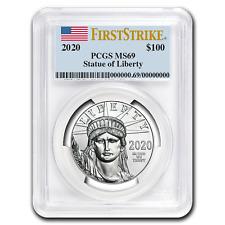 2020 1 oz Platinum American Eagle Ms-69 Pcgs (FirstStrike®) - Sku#199410