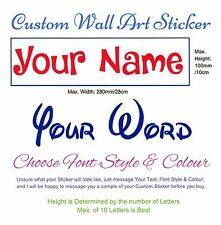 Custom Personalised Your Word or Name Wall Art Vinyl Sticker Decal