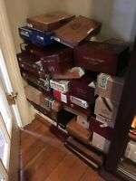 50 Assorted Wood Cigar Box Collection Lot